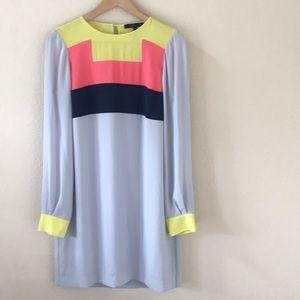 BCBG Cally Colorblock Retro Dress